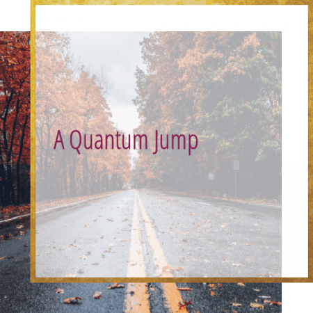 road with trees - A quantum jump