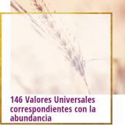 146 valores universales correspondientes con la abundancia