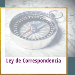 ley de correspondencia